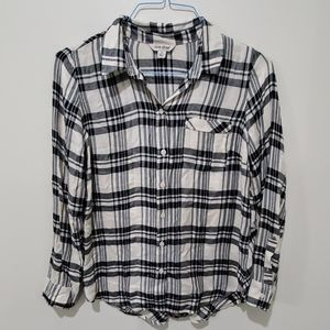 ❤LUCKY BRAND FLANNEL BUTTON DOWN TOP/SHIRT, SMALL